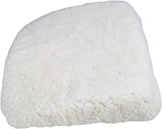 Car Boost Seat Cushion - White Fleece