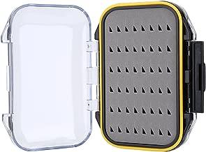 Fly Lure Box, Waterproof Foam Padded Baits Storage Case Two-sided Box(Triangle Shape)
