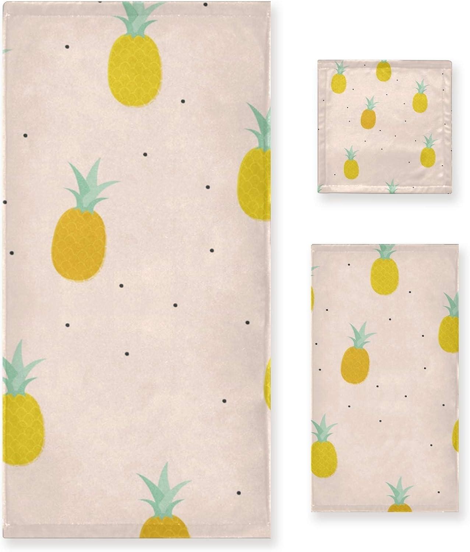 LUPINZ Pinapple Painting Pattern Towels Omaha Mall Hand Face Columbus Mall Ba Towel