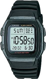 كاسيو ساعة رياضية رجال رقمي مطاطي - W-96H-1BVDF