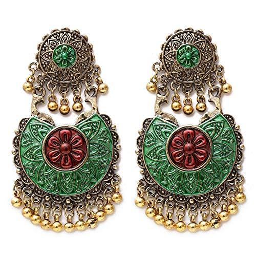 Zorong Boho ethnischen große Glocke Quaste Fringe Ohrringe handgefertigte große Perlen Anweisung Indien Ohrringe Party baumeln Ohrringe @ EH1680