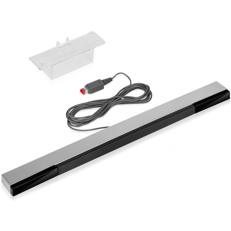 Fosmon - Barra sensora inalámbrica de recambio para Nintendo Wii y Wii U con embalaje, color plateado y negro: Amazon.es: Electrónica