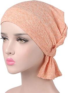 Print Cotton Chemo Head Scarf Turban Hat Sleep Cap Headwear Ethnic Wrap Ruffle Beanie