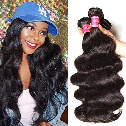 Nadula Hair 8a Best Quality Brazilian Body Wave Virgin Hair Extensions 3 Bundles 16 18 20 Inch Brazilian Wavy Unprocessed Human Hair Weave Natural Color