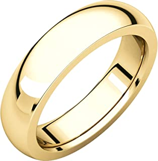 Men's and Women's 18k Yellow Gold, 5mm Wide, Extra Heavy Comfort Fit, 2.60mm Thick, Plain Wedding Band