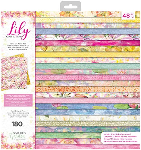 Nature's Garden NG-LILY-PAD12 Lily Collection Papierblock, 30,5 x 30,5 cm, multi