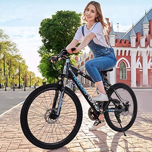 Erwazi Mountain Bikes, Hardtail Mountain Bike Stone Mountain 26 Inch, 21-Speed, Aluminum Mens Bicycle Womens Mountain Bike (Blue)
