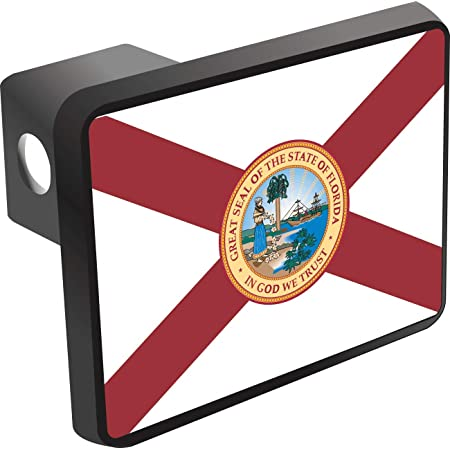 Graphics and More Florida FL Home State Flag Officially Licensed Oval Tow Trailer Hitch Cover Plug Insert