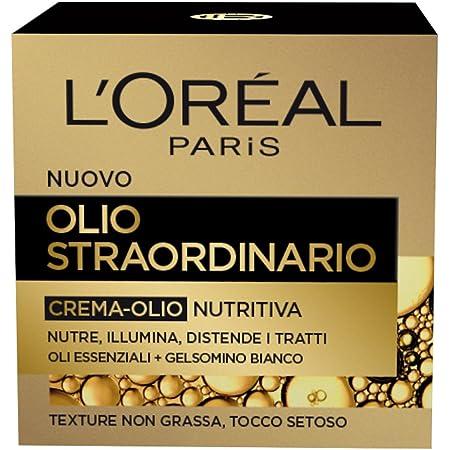 L'Oréal Paris Dermo Expertise Soin Olio Straordinario Crema-Olio Viso, Nutre, Illumina e Distende i Tratti, 50 ml