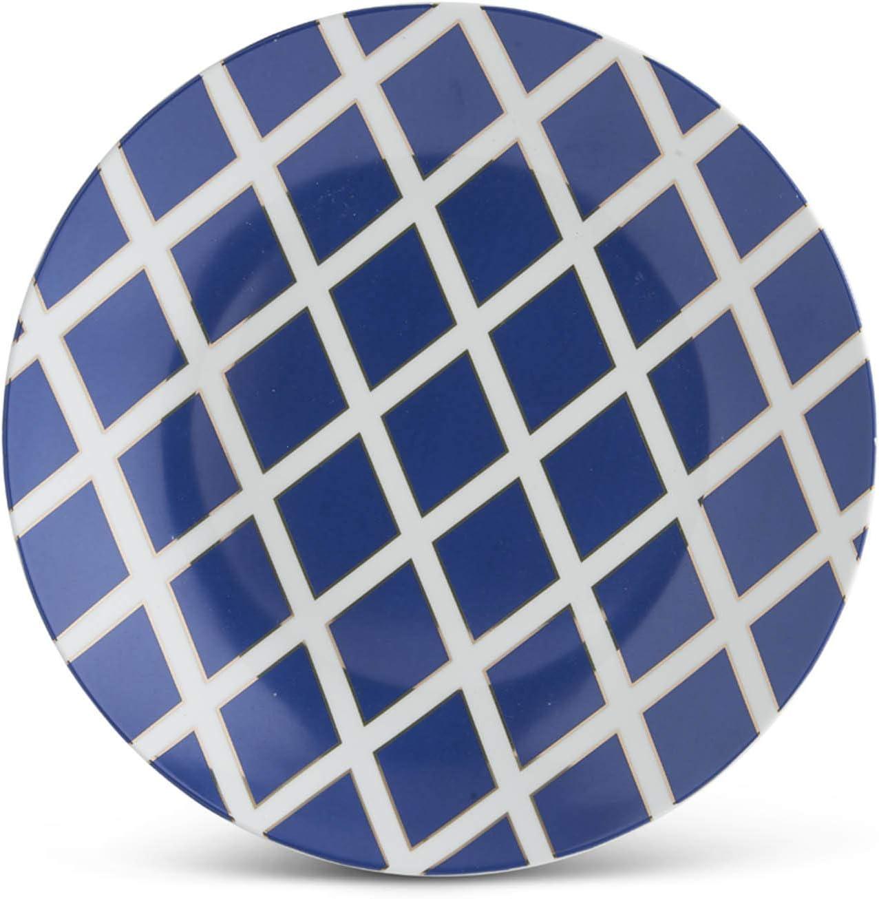 KK Interiors 16346B Cheap mail order shopping Over item handling ☆ 13 Inch Royal Crisscross White Pla and Blue