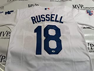 f165186c6 PSA DNA Authentic Bill Russell Autograph Throwback Los Angeles Dodgers  Jersey w   81