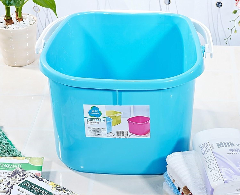 Saun K Foot tub, home plastic foot bath barrel, foot massage basin, portable foot spa basin, footbath size  37.834.822.5cm (color   B)