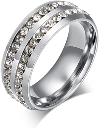 Kstare Rings,Exquisite Titanium Ring Wedding Ring for Men&Women Band 6-13,Jewelry Gift