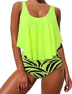 MOSHENGQI High Waist 2 Pieces Swimsuit Women Printed Sexy Bathing Suit Bikini Set