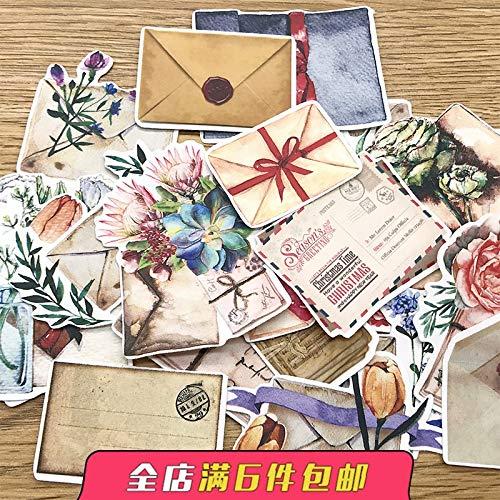 Retro Hand Account Materiaal Stickers Oude Letters Gemengd Fotoalbum Decoratieve Stickers