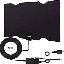 Loutsbe Amplified HD Digital TV Antenna,Indoor HDTV Digital Antenna 80 Mile,Support 4K 1080P Fire tv Stick&All Older TV's HDTV Antenna with Switch Amplifier Signal Booster-Freeview Life Local Channels