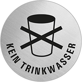 Trinkwasser Schild HOT19 Wasserfest Öffentlichkeit Information Zeichen
