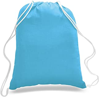 14 Pack Promotional Priced Cotton Drawstring Bags Backpacks Art Craft
