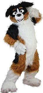 Langteng räv hund husky tecknad maskot kostym äkta bild 15-20 dagar leverans märke