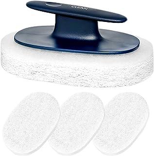 キッチンスポンジ 4枚入り 柄付き 清潔スポンジ 入れ替えでき 浴室 キッチン ホーム タイル 床 対応
