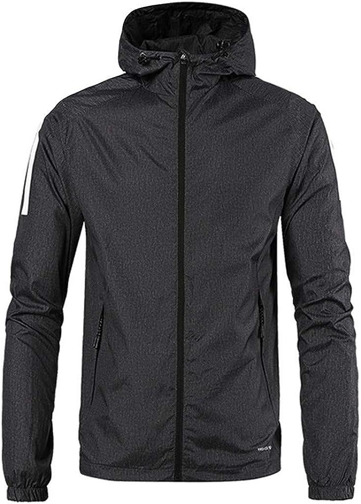 MODOQO Men's Zipper Jacket with Hood Casual Loose Fit Hoodies Sweatshirt Outwear Coat