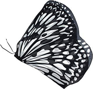 butterfly wings black and white