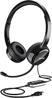 Mpow USB Headset (All-Platform Edition) with 3.5mm Jack, Stereo Computer Headset with Microphone Noise-Canceling, Skype He...