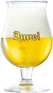 Duvel Original Belgian Tulip Beer Glass - Gold Signature Logo - (1) Glass