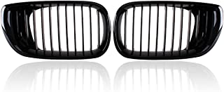 Heart Horse Front Kidney Grill Grilles for BMW E46 2001-2005 4 Door 4D 3 Series Car Front Bumper Grille Gloss Black
