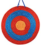 Pounique Archery Target 3 Layers 20 inch Traditional Hand-Made Solid Straw Archery Target 2.3 inch Thickness Arrows Target for Outdoor Shooting Practice
