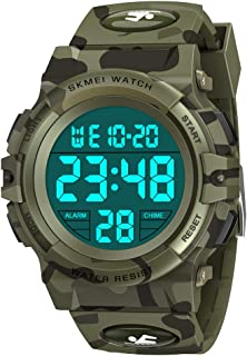 SOKY Gifts for Boys Ages 5-16, Kids Watches Boys 5-7 Waterproof Digital Sport Watches Christmas Birthday Gifts for 5-13 Year Old Teen Boys Girls Wrist Watch for Kids Xmas Stocking Stuffers Army Green