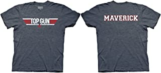 Logo and Maverick Name Adult Heather Navy T-Shirt