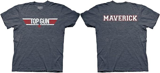 Camiseta con logotipo Top Gun y Maverick para adultos, Heather, azul marino