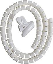 SKEIDO Cable Zipper Cord Organizer Wire Management White Color -1.5M