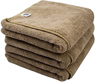 Chemical Guys MIC36203 Workhorse XL Tan Professional Grade Microfiber Towel, Leather & Vinyl (24 in. x 16 in.) (Pack of 3)