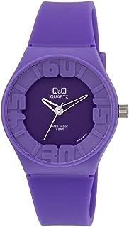 Q&Q Men's Purple Dial Rubber Band Watch - VR36J006Y
