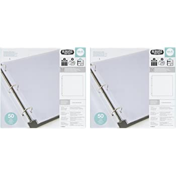 American Crafts 76711 12-Inch by 12-Inch Page Protectors