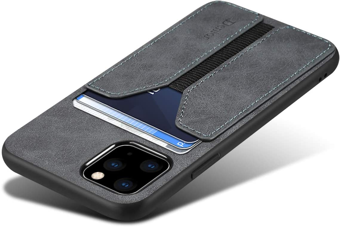 SUTENI iPhone 11 Pro Max Wallet Case, iPhone 11 Pro Max Wallet Case Slim Credit Card Slot Holder Case, PU Leather Wallet Case Compatible with iPhone 11 Pro Max 6.5 inch (Gray)