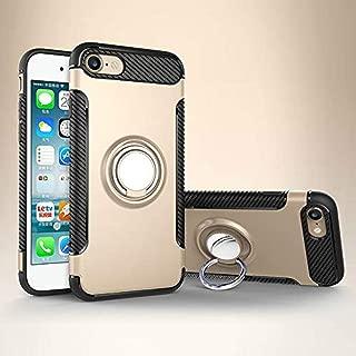 iPhone 7 Plus Kılıf Yüzük Standlı Koruma Kabı + Apple İphone 7 Plus Kırılmaz Cam Ekran Koruyucu