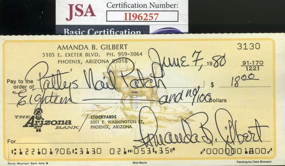 Kansas City Mall Amanda Blake JSA Coa Gunsmoke Autograph Signed 2021 new Check