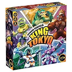 For 2 6 players 30 minute playing time New artwork by Regis Torres, illustrator of King of new York Space penguin included in the box Clearer rules and card text for a better gaming experience