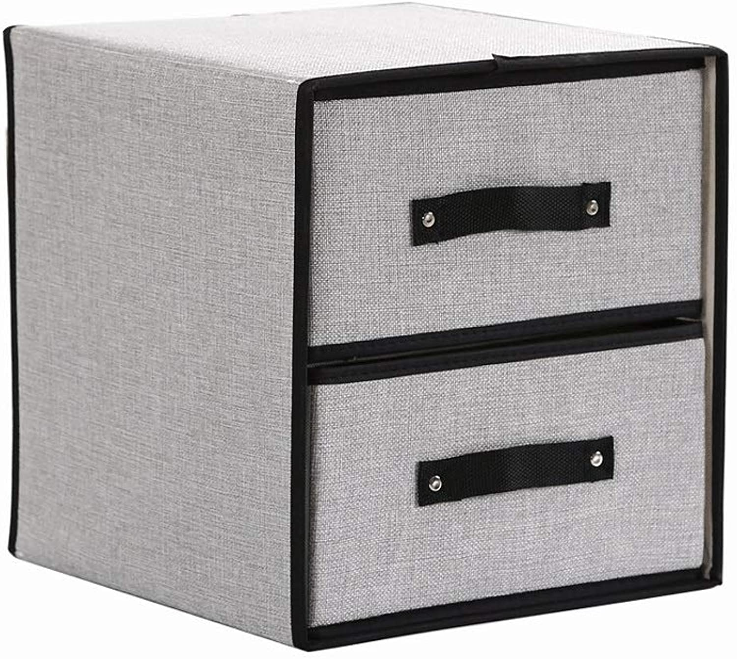 Cabinet Multi-Layer Storage Box Cotton and Linen 2 Floors (color A