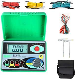 Resistance Tester DY4100 Digital Earth Ground Insulation Test Multimeter with Higher Accuracy Power Systems 2000Ω 0.01