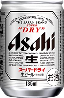 Asahi Super Dry Mini Beer Can, 135ml (Pack of 24)
