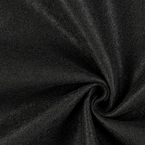 Fabulous Fabrics Filzstoff schwarz, 1 mm dick, 90 cm breit – Filz zum Nähen und Basteln von Taschen, Tischdeko, Filzkörbe und Wohnaccessoires - Meterware ab 0,5m