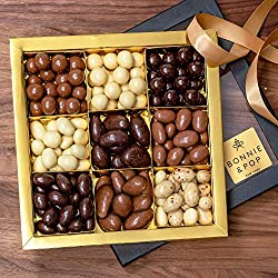 Chocolate Covered Nuts Box by Bonnie & Pop