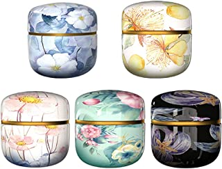Cabilock 5pcs Round Metal Tins with lids Decorative Candle Tins Empty Tin Box Containers for Gift Candy Loose Tea Storage ...