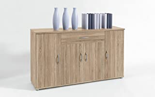 Bega Stella Trading Lilly 13 - Cómoda (Roble Sonoma 4 Puertas 1 cajón 118 x 70 x 30 cm)