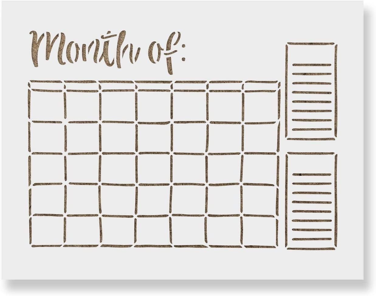 Calendar Stencil Template - Reusable for Direct store New products, world's highest quality popular! Stencils in Sm Painting