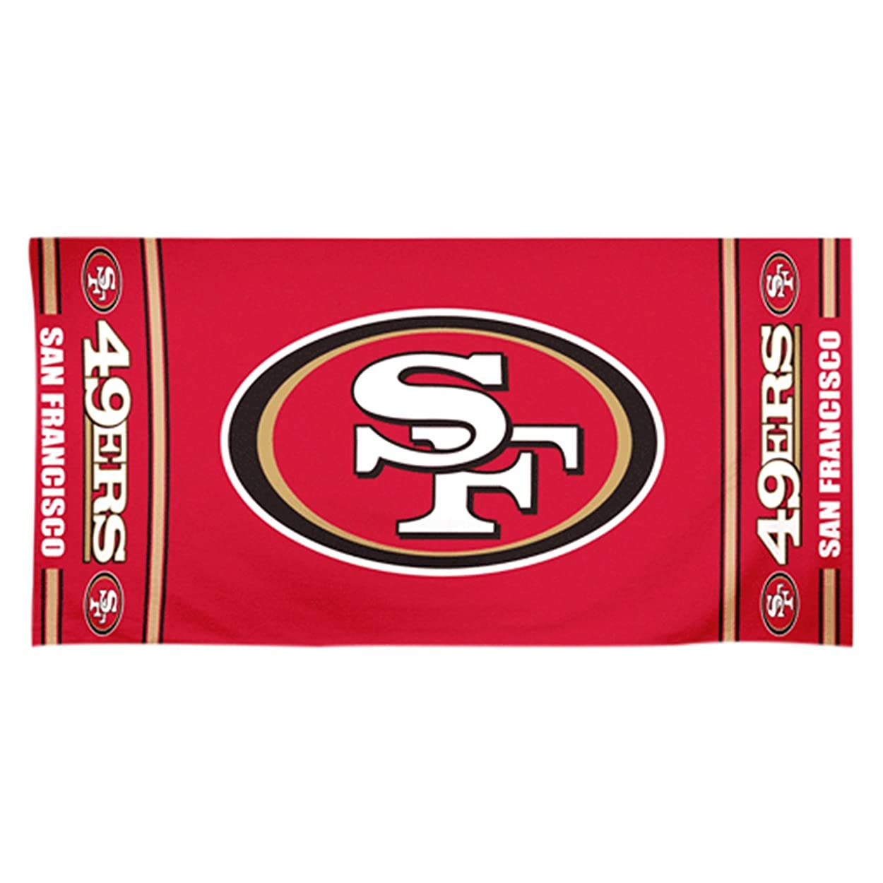 人間クッションさまようNFL Licenced Beach Towel San Francisco 49ers